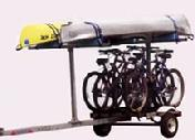 ADD BIKE RACKS TO YOUR CANOE KAYAK TRAILER