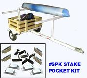 STAKE POCKET KIT FOR CANOE KAYAK TRAILER