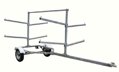 4 or 8 place kayak trailer