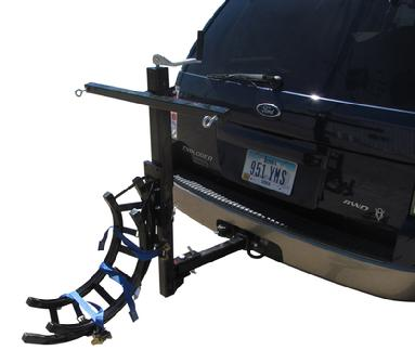motorcycle receiver hitch tow devise
